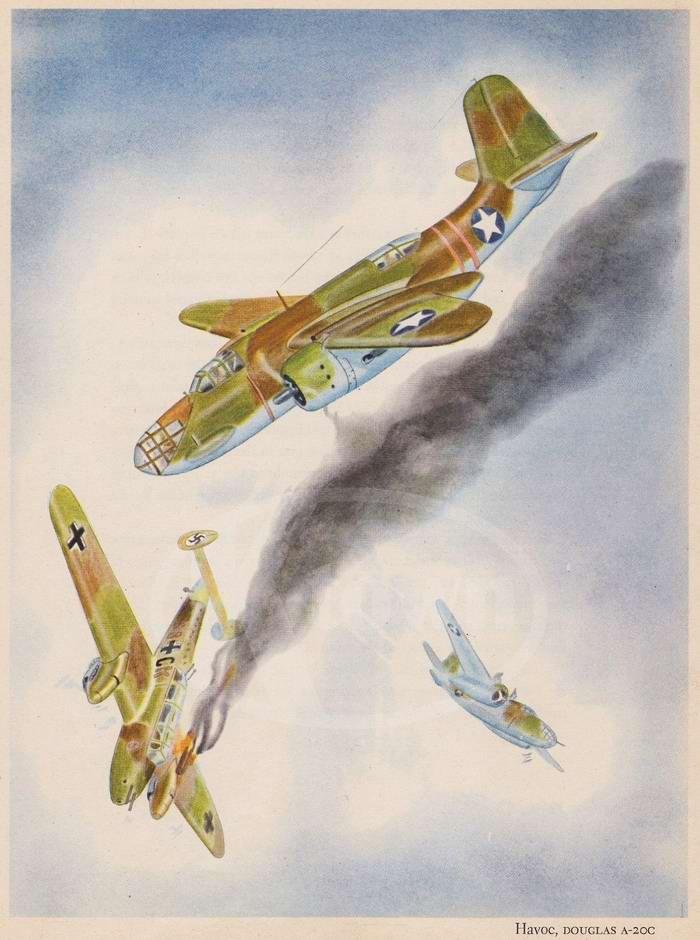 Douglas A-20 Havoc - легкий бомбардировщик