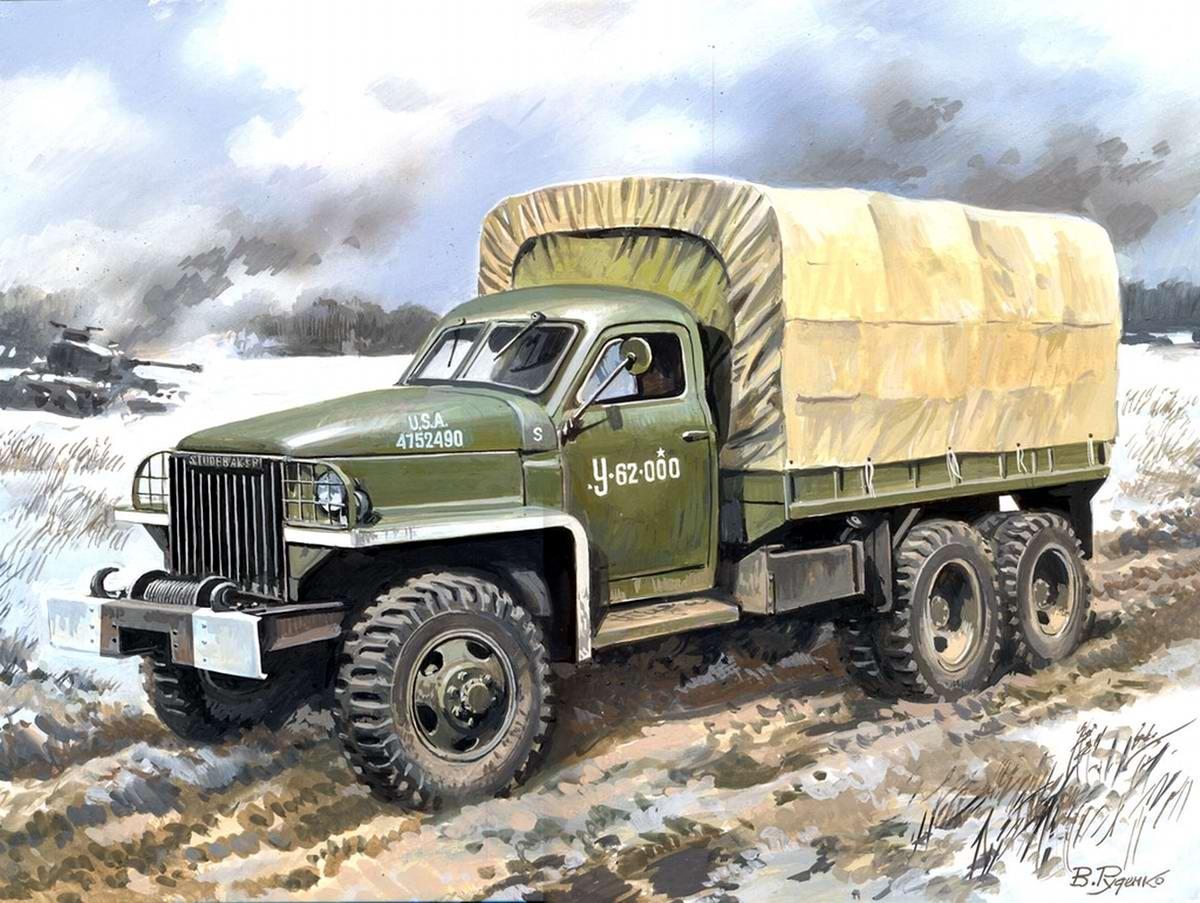 Армейский грузовой автомобиль Studebaker US6 U4