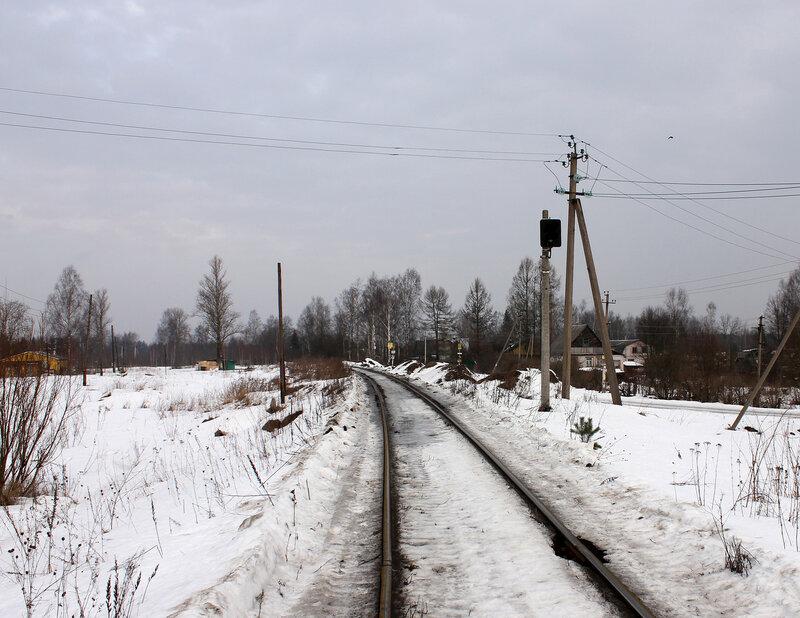 Предвходной светофор в сторону Гор от ПМС-28, тут ПАБ