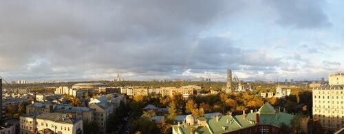 Осенняя панорама с радугой
