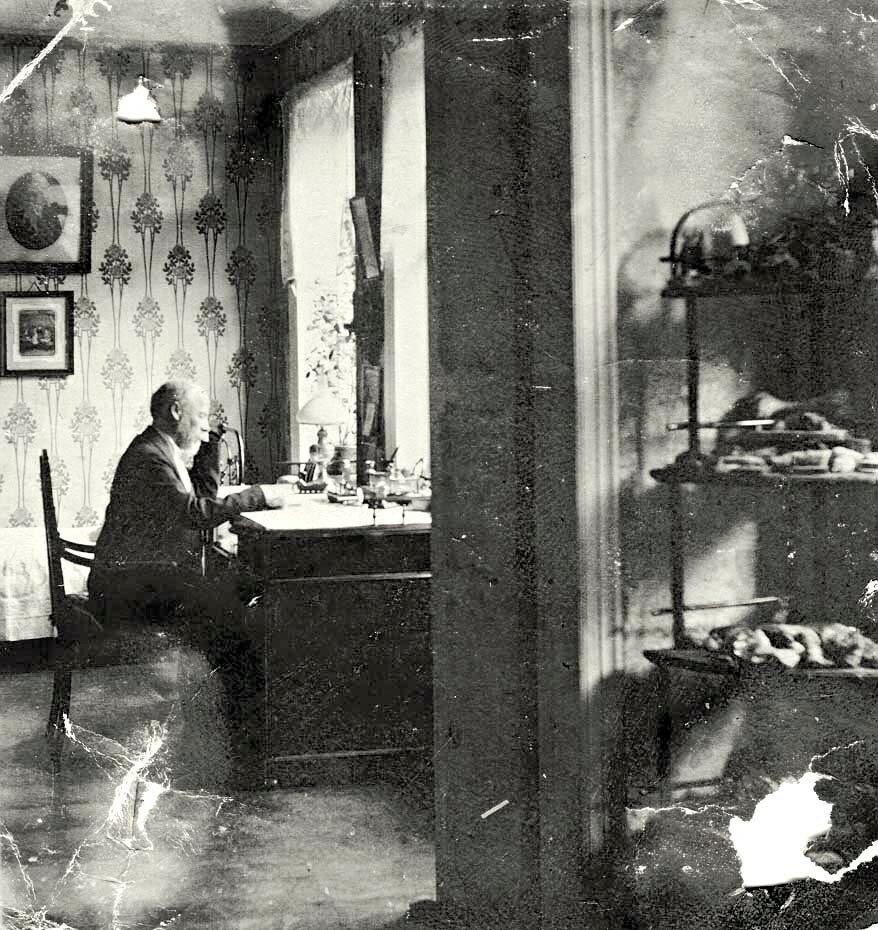 Фрагмент гостиной и кабинета в доме первого провизора Красноярского музея П.С. Проскурякова