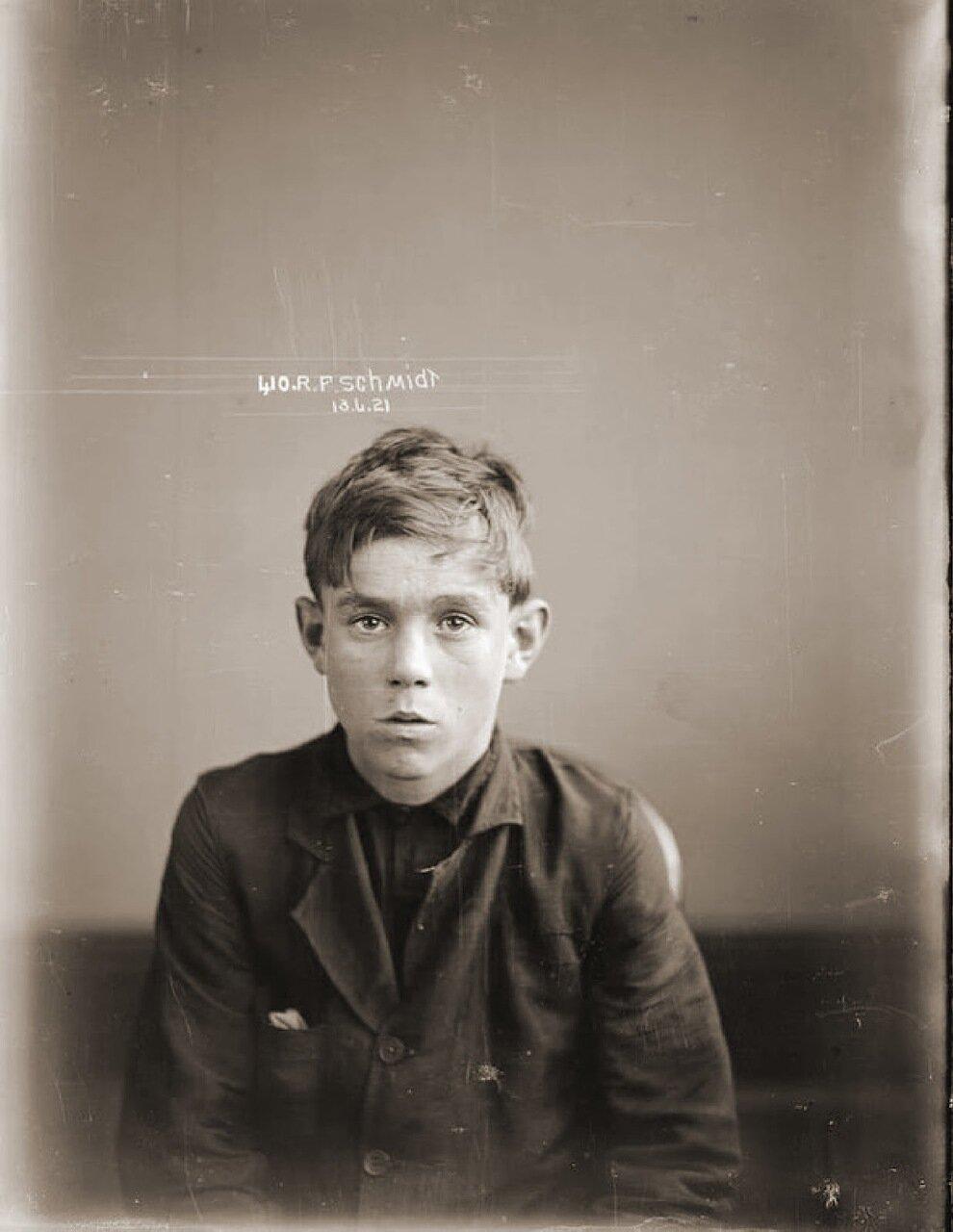 7.Маленький Шмидт – беспризорник, воришка. Работал на мафию, был курьером по передачи ценных записок между магазинами и притонами. При поимке полиции, моментально съедал ценные записки с указаниями