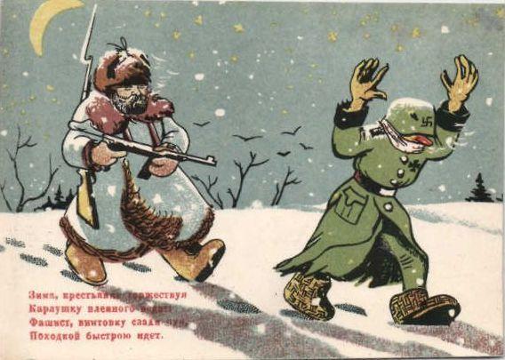 пленные немцы, русская зима, как немцы мерзли на морозе
