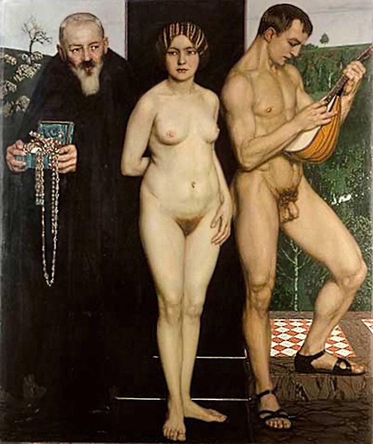 Между богатством и песней, ок. 1900, Оскар Цвинчер_1870-1916, Германия