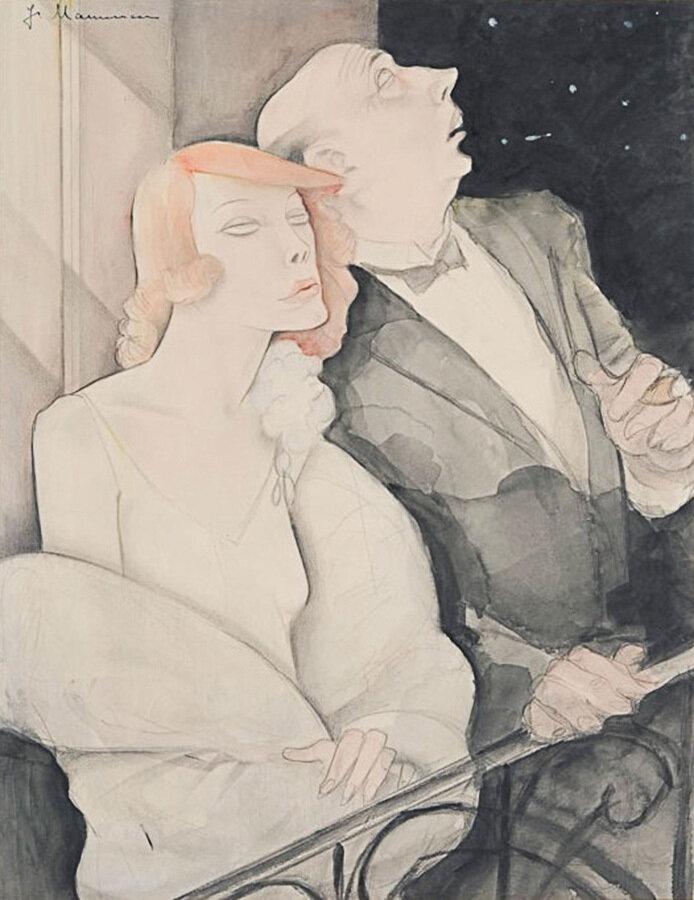 Jeanne Mammen (German, 1896-1976), Der Grosse Wagen (Ursa Major, The Great Bear), 1920s, Watercolor and pencil on paper