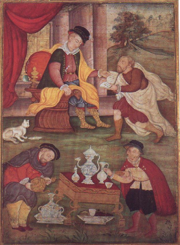 Four Europeans Unknown painter ca. 1590. India.jpg