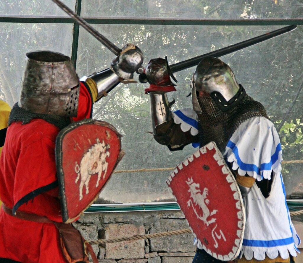 Соревнования по средневековым боях на мечах