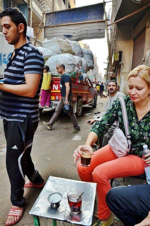 город мусорщиков в Каире