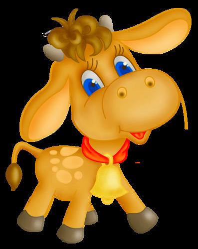 Картинка бычка на прозрачном фоне