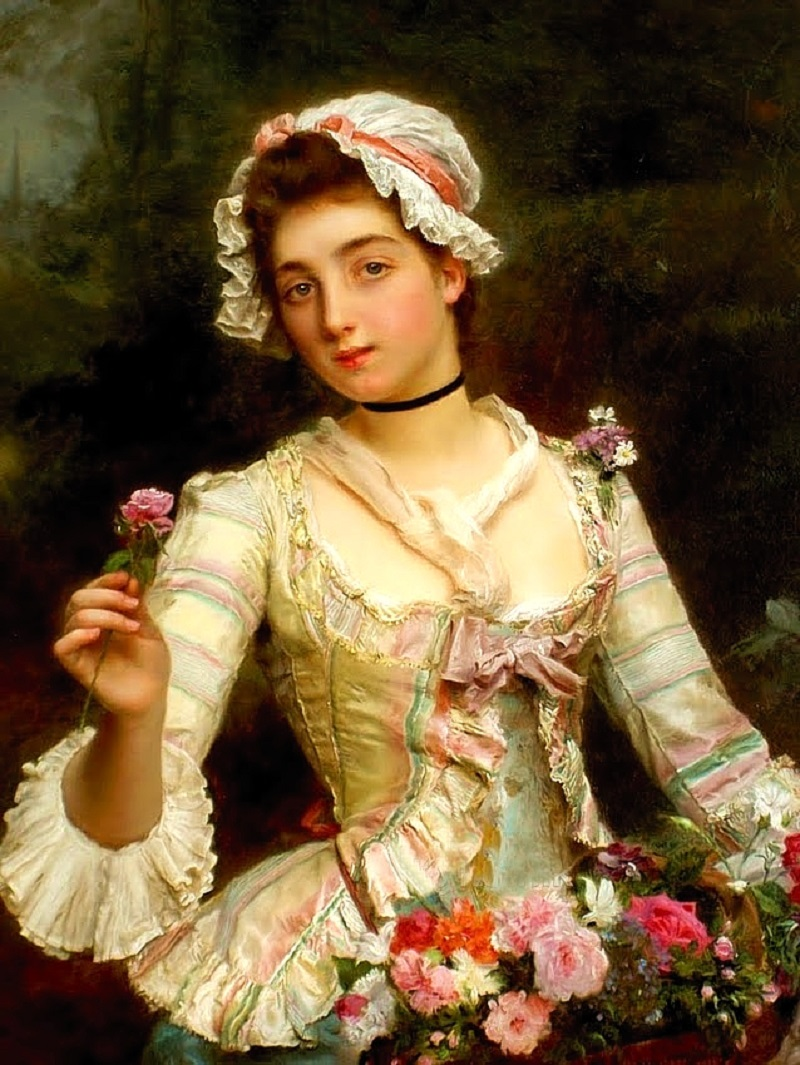 «Young woman with flowers».jpg