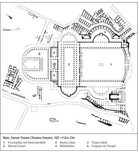 Рим, форум Траяна (107 - 112 гг. н.э.), генплан