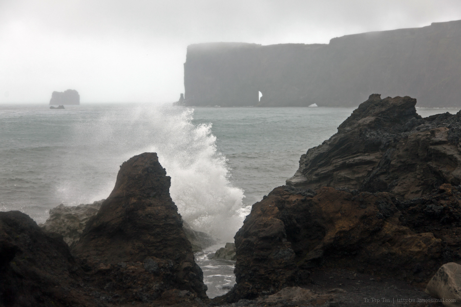 8. Чёрные берега Рейнисфьяра и кратеры вулкана Лаки.