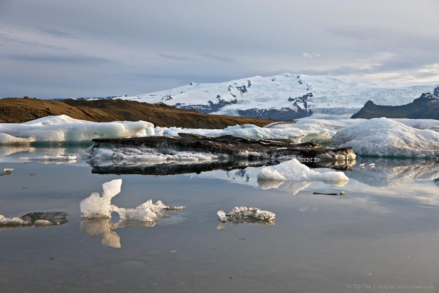 13. Тихий вечер у Ледниковой лагуны.