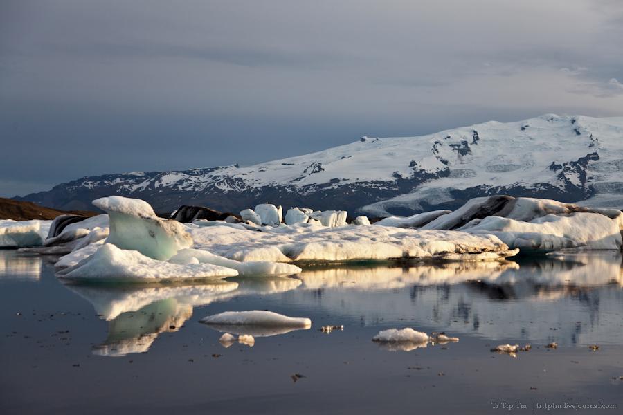 1. Тихий вечер у Ледниковой лагуны.