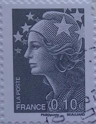 франция женская голова 0,10