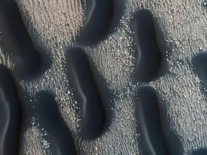 Цветные марсианские дюны