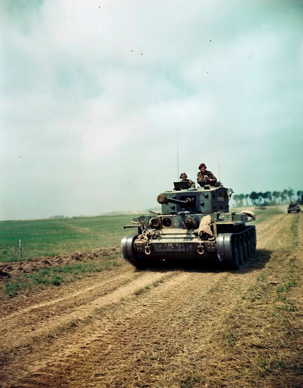 Canadian Cromwell Tank IV on the Road South of of Caen 1944