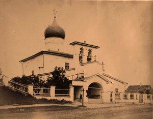 Вид церкви Варлаама Хутынского на Званице (построена в 1495 г.) Псков г.