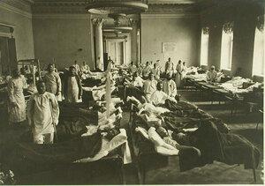 Вид одной из палат  Евгенинского госпиталя № 1 имени  Ее императорского высочества великой княгини Ольги Александровны
