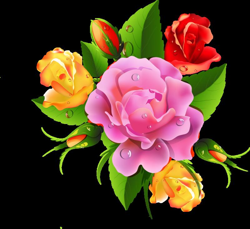 Клипарт цветы открытки