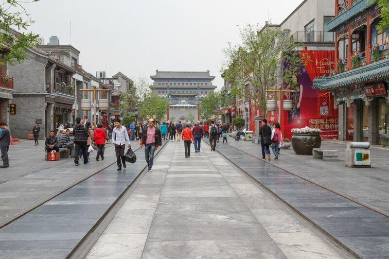 Улица Цяньмэнь и Башня лучников, Пекин