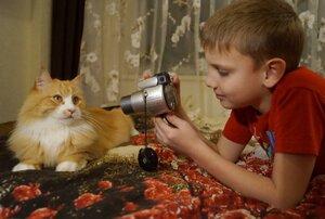 Фотосессия кота Василия.