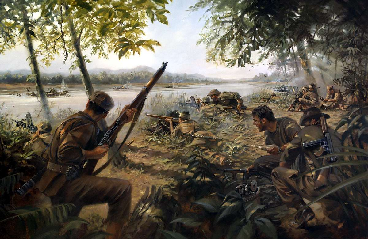 Засада на берегу реки Иравади (Irrawaddy Ambush) - Stuart Brown, 2010 год