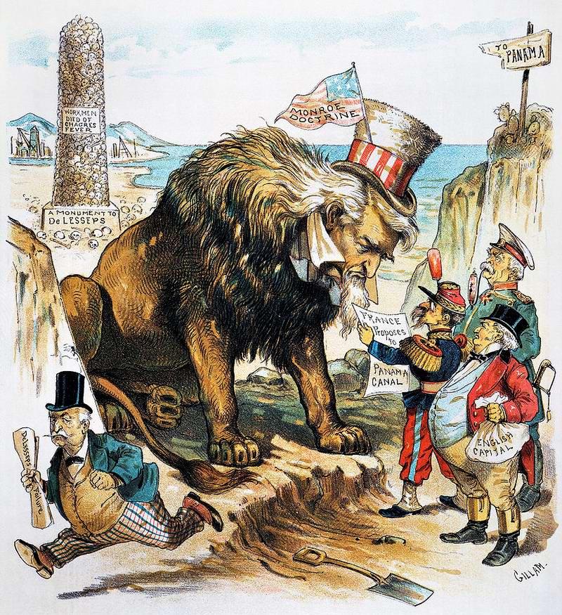 Доктрина Монро (Американский континент является зоной, закрытой для вмешательства европейских держав): Панамский канал - путь Льва (1889 год)