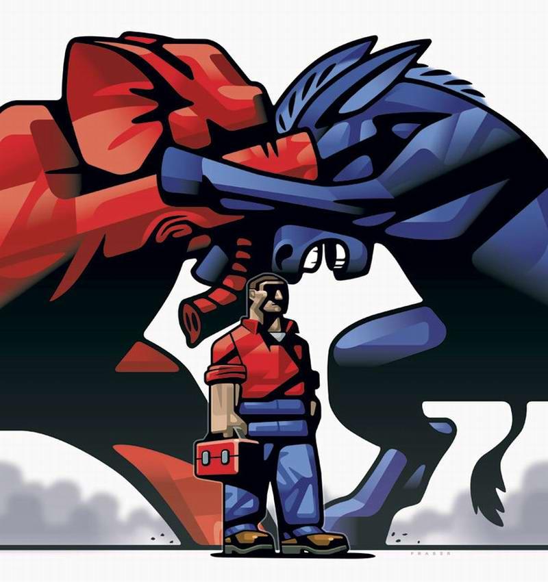 Рабочий Джо и предвыборная борьба политических партий