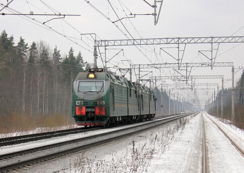 2ЭС4К-029 на перегоне Войтоловка - Мга
