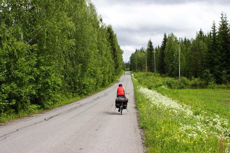 дорога 15208 между Ванхамяки (Vanhamäki) и 13-й трассой