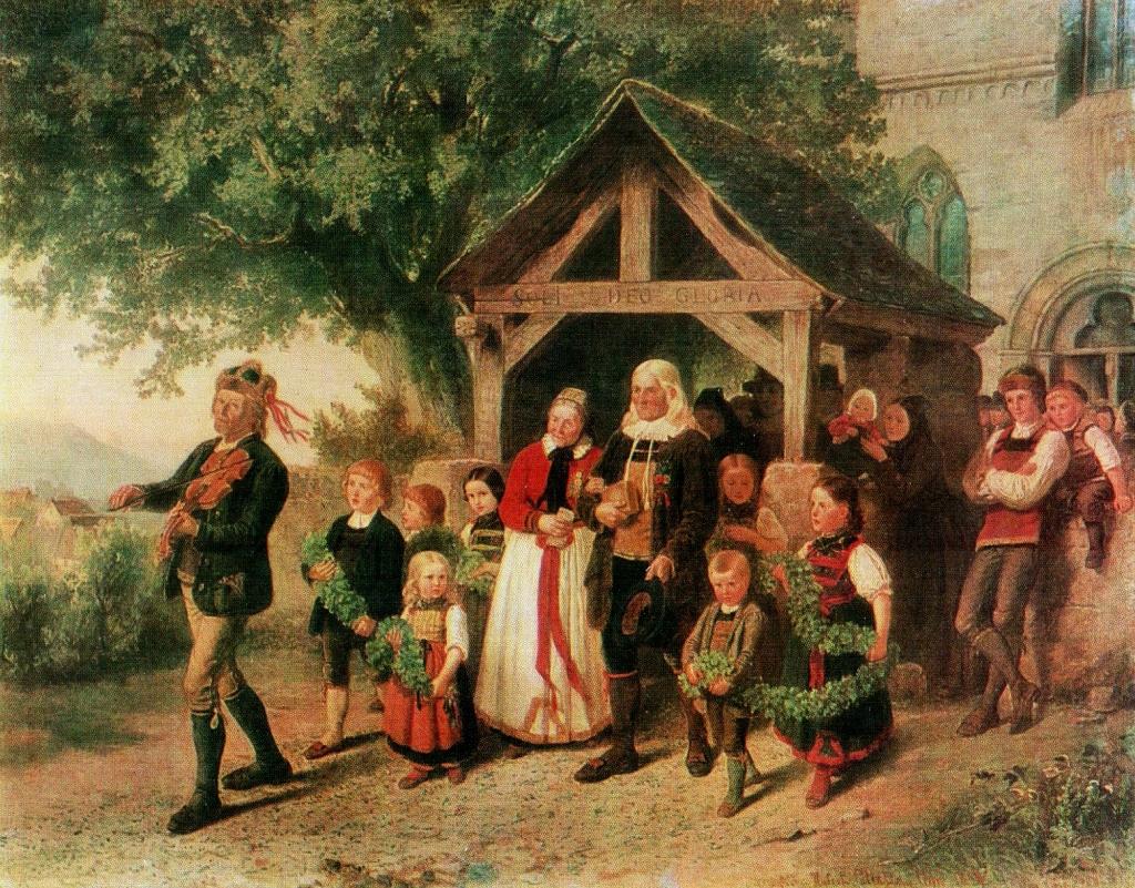 Image result for Hubert Salentin (1822-1910) - Золотая свадьба,