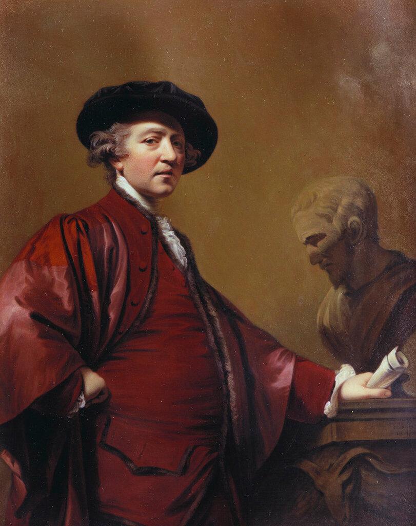 Автопортрет (после Рейнольдс)  Подпись и дата 1 804