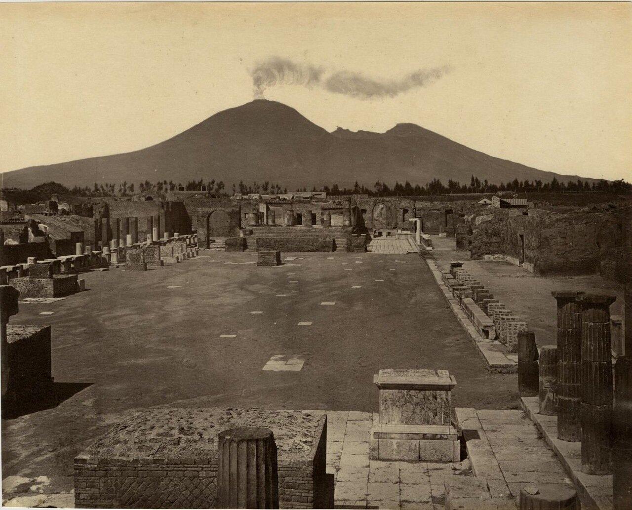 1880. Гражданский Форум на фоне активного Везувия