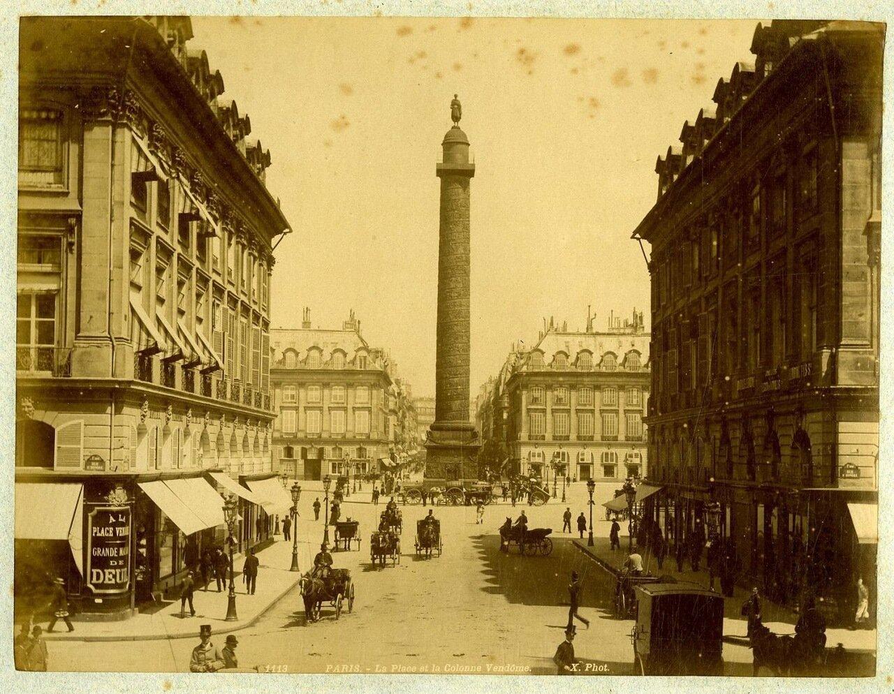 Вид Вандомской площади. 1880-е