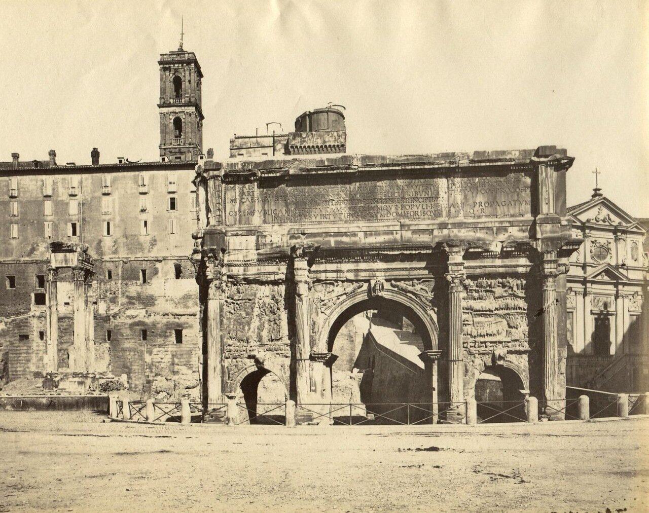 Триумфальная арка Септимия Севера 1870