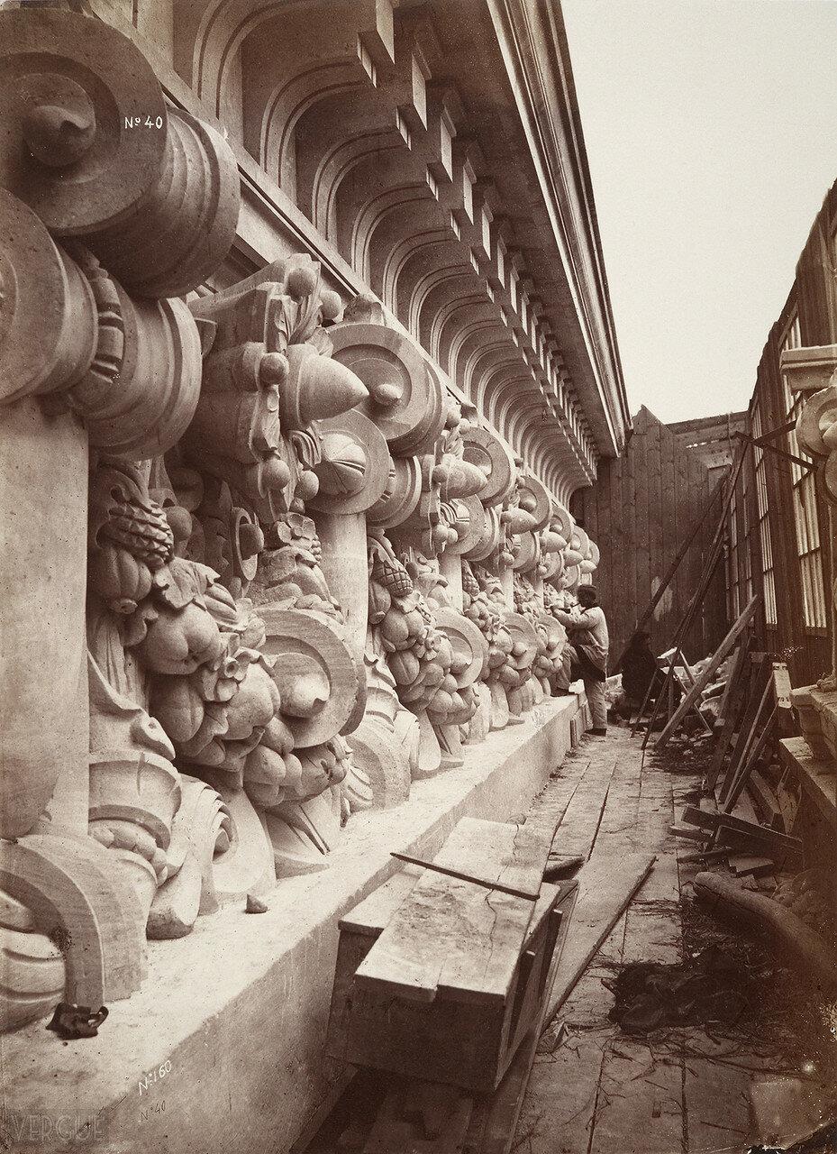 1866. Строительство Новой Оперы. Фриз боковой стенки