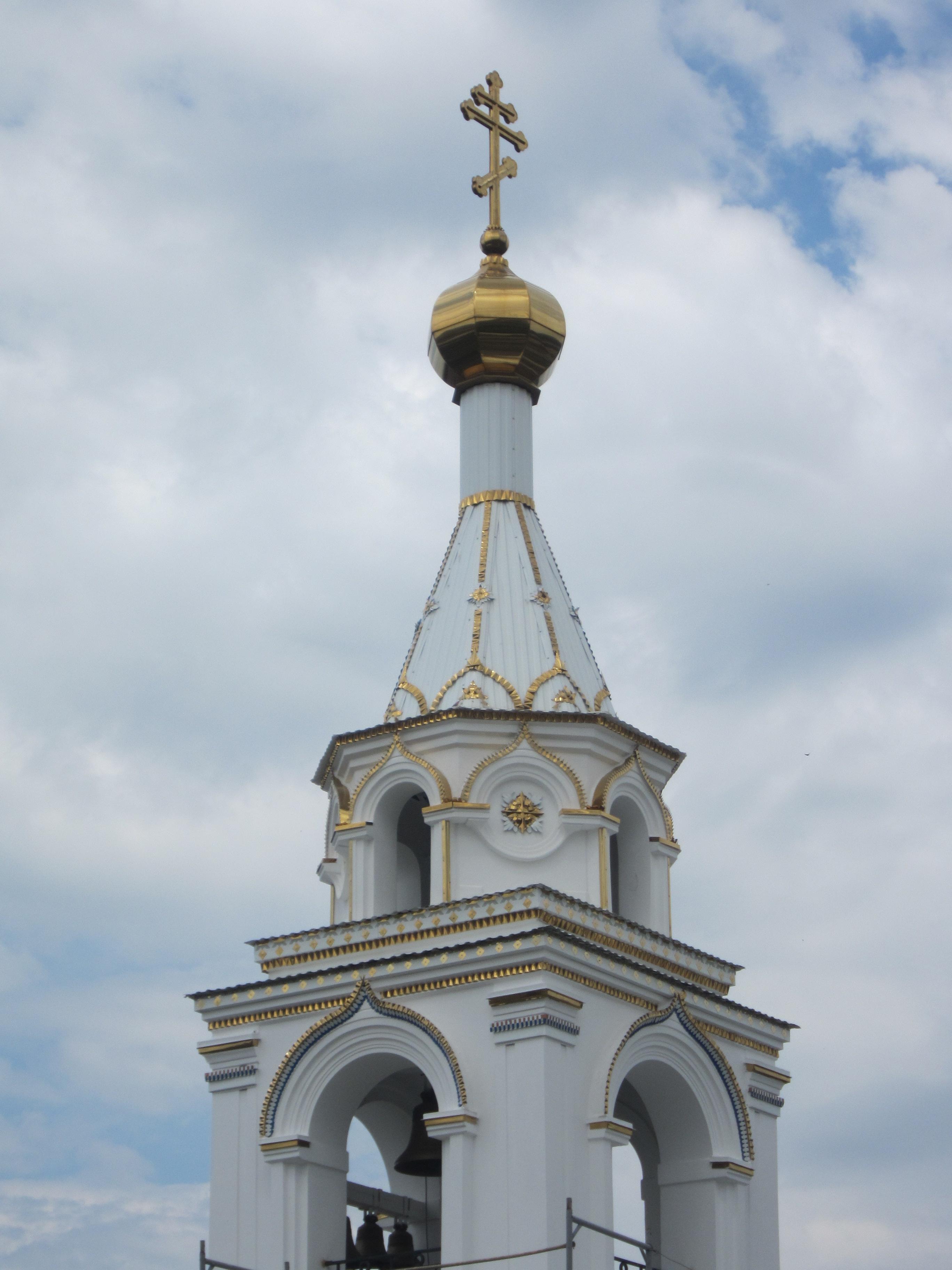 Шатер колокольни крупным планом (09.07.2014)