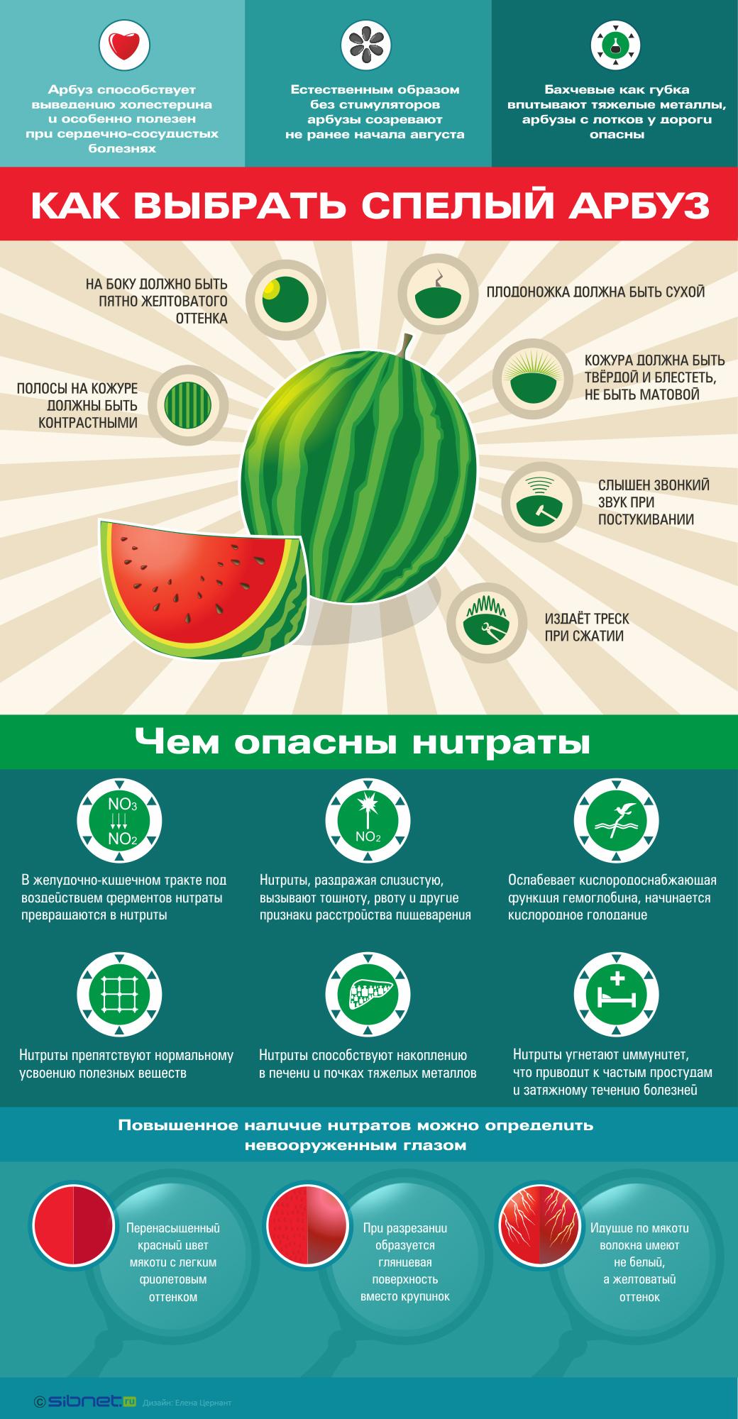 Как правильно выбрать арбуз спелый и сладкий (и без нитратов)