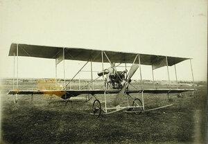 Авиатор и инженер И.И.Сикорский в кабине биплана своей конструкции
