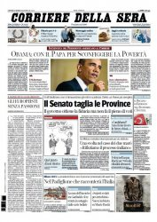 Журнал Il Corriere della Sera (27.03.2014)