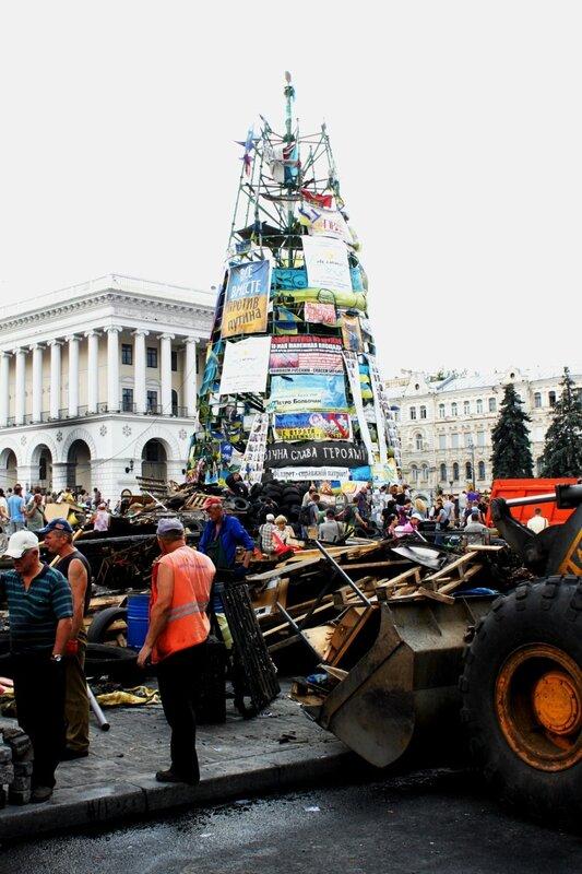Уборка на Евромайдане