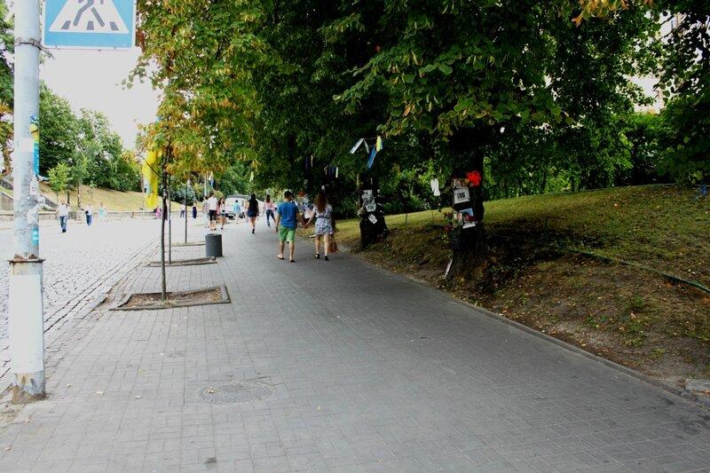 Место гибели участников Евромайдана