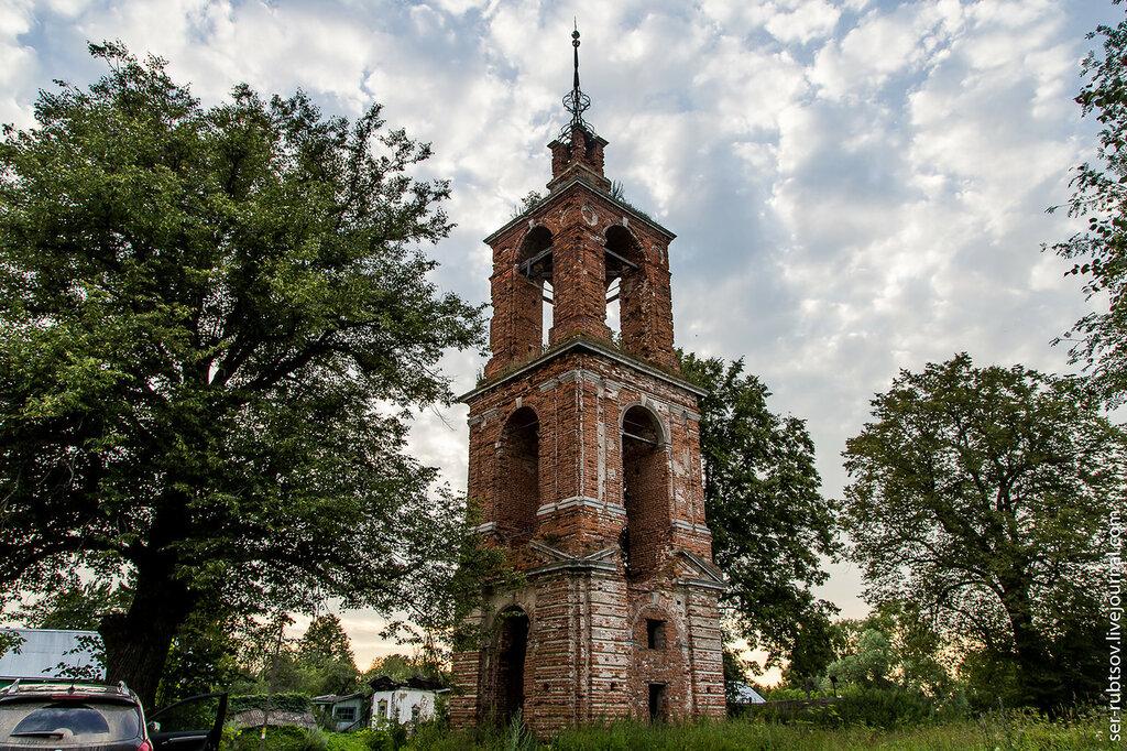 Колокольня церкви Спаса Преображения в Богданино