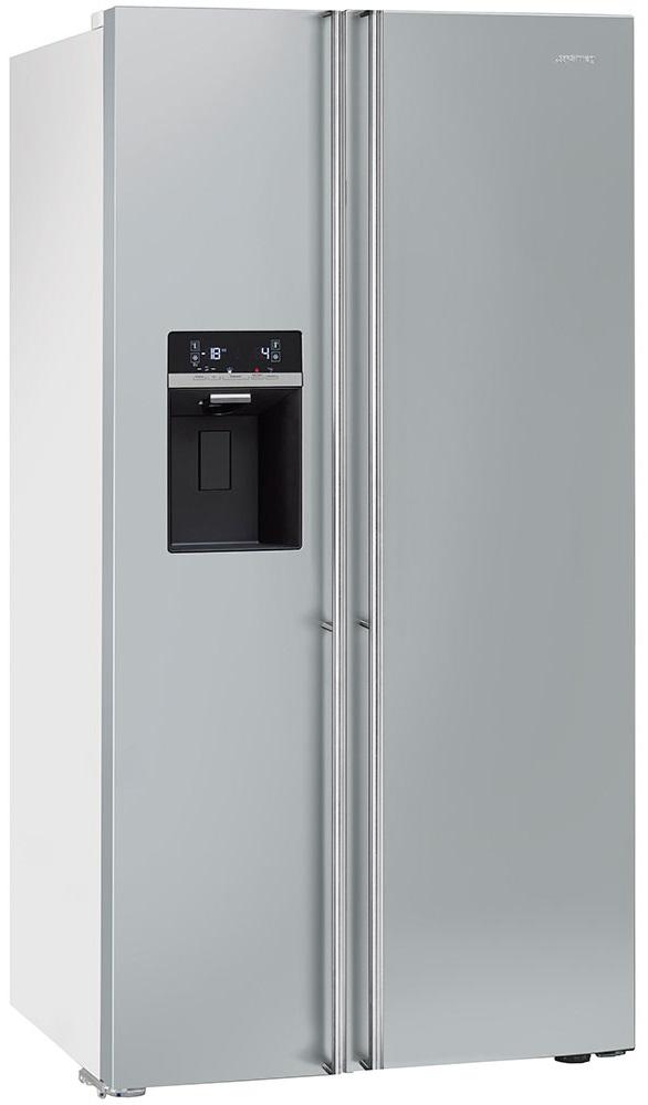 холодильник Смег серебристый