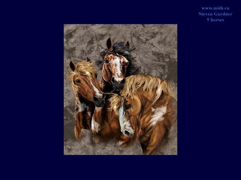 Найдите 9 лошадок