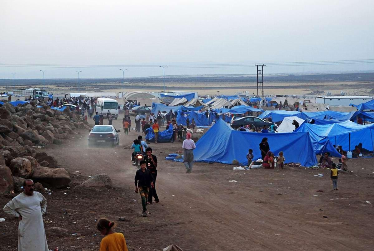Лагерь для иракских беженцев на территории Сирии