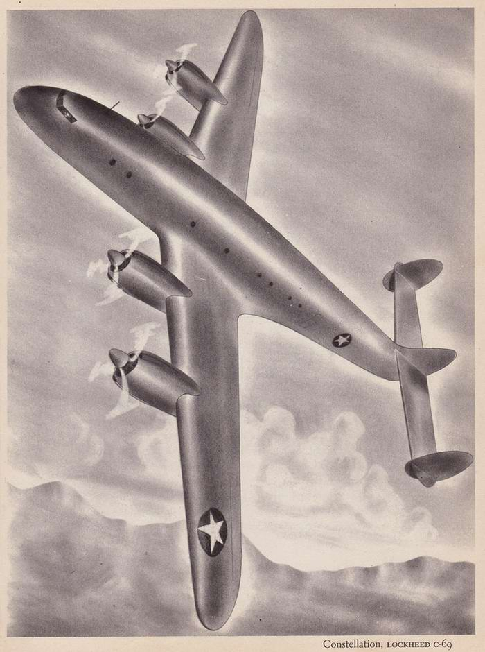 Lockheed Costellation C-69 - транспортный самолет