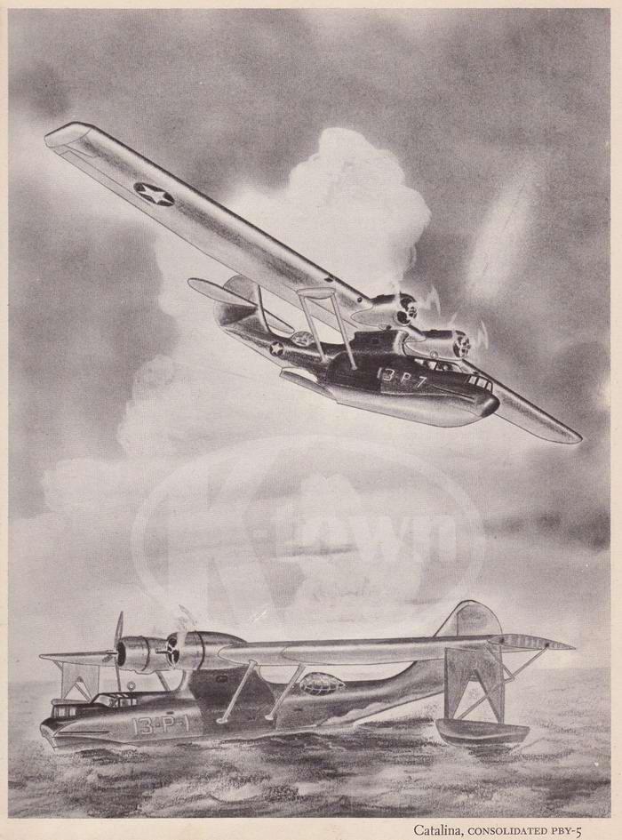 Consolidated PBY-5 Catalina - патрульные и поисково-спасательные гидросамолеты