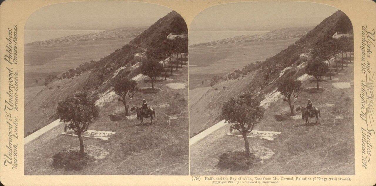 Хайфа и Хайфский залив. Вид с горы Кармель. 1900
